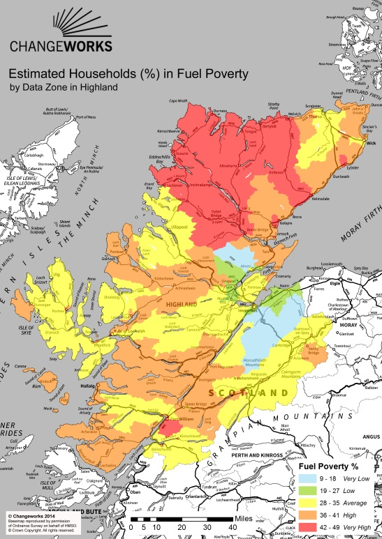 Estimated Households (%) in Fuel Poverty - Highland