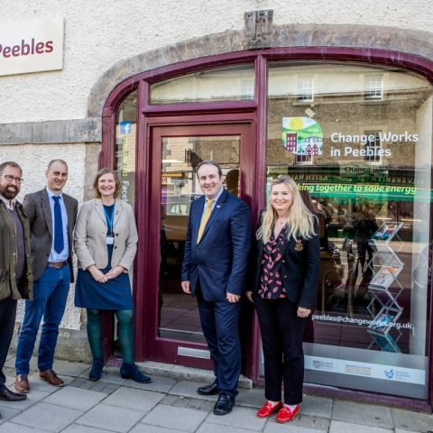 Change Works in Peebles Hub visit by Paul Wheelhouse, Minister for Business, Innovation and Energy